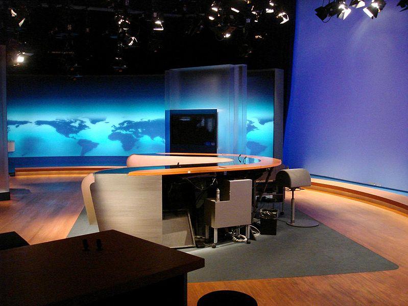 """Studio """"Tagesschau"""" - głównego programu informacyjnego niemieckiej telewizji publicznej. Foto: Wikimedia Commons"""
