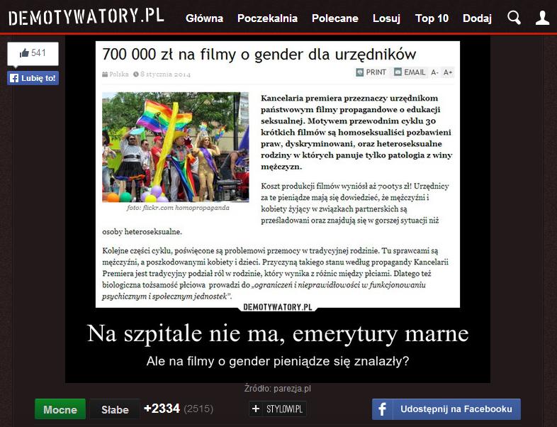 Jeden z demotywatorów powstałych w reakcji na artykuły naszego portalu.