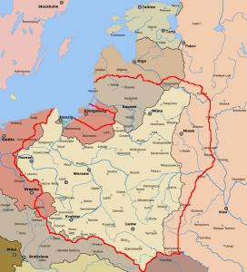 """""""Linia Dmowskiego""""  Foto. wikipedia.pl"""