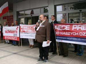 Protest w Bydgoszczy. Foto: Facebook