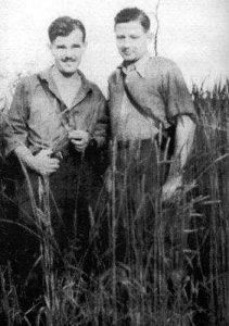 """Hieronim Dekutowski """"Zapora"""" i Zdzisław Broński """"Uskok"""" (z prawej) foto. wikipedia.pl"""