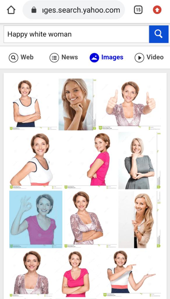 wynik wyszukiwania happy white woman yahoo
