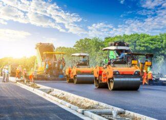 budowa drogi, maszyny